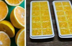 Frozen lemon.