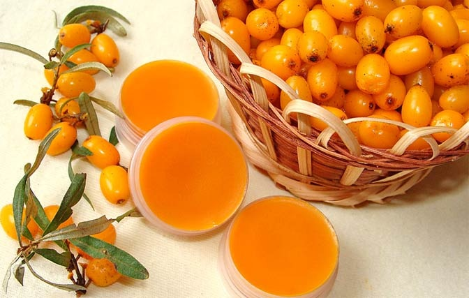 Sea buckthorn for facial skin.