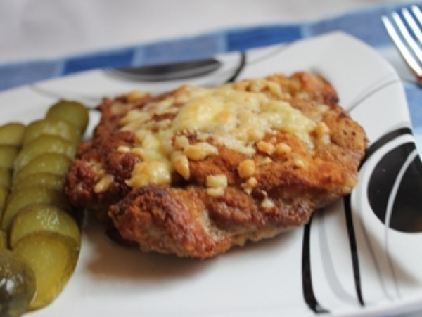 Schnitzel in an old-fashioned manner.