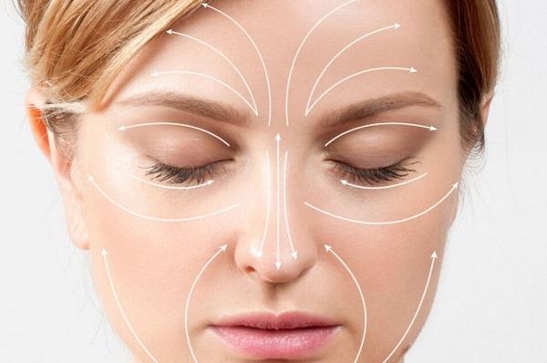 Rejuvenating face and neck massage.