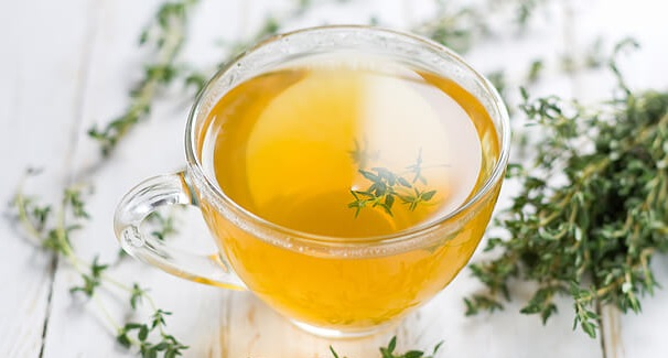 Herbal tea with thyme.